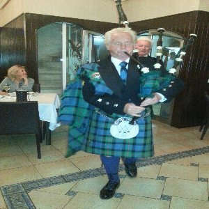 Piping in the Haggis......
