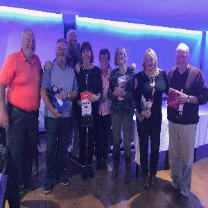 First Quiz Night Winners Alan, Phylis, Morag, Ian, Gloria & Paul 15th February 2019. Organisers Sharon, Clive & David